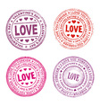 Valentine day seal vector image vector image