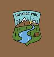 vintage outside vibe logo adventure emblem design vector image vector image