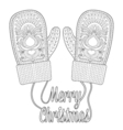 Warm knitted mittens vector image vector image