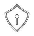 web security padlock shield vector image vector image
