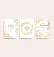 wedding invitation cards floral flyers vector image vector image