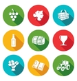 Wine production Icons Set vector image vector image
