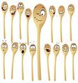 wooden spoon cartoon vector image vector image