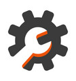wrench and gear icon vector image vector image