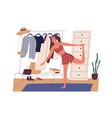 young woman doing sports workout in morning cute vector image vector image