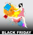 black friday with young girl vector image