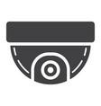 surveillance camera solid icon cctv and security vector image