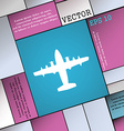 aircraft icon sign Modern flat style for your vector image