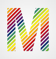 Alphabet Letter M vector image vector image