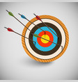 arrow and a dartboard vector image