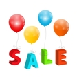 Balloons with Sale Letters Concept of Discount vector image vector image