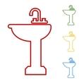 Bathroom sink Set of line icons vector image vector image