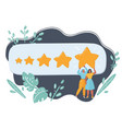 best rating evaluation online review vector image vector image