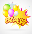 blast with balloon vector image