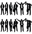 businessman silhouette set on white background vector image vector image
