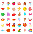 cake icons set cartoon style vector image vector image