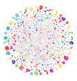 call center symbols decoration cluster vector image