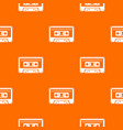 cassette tape pattern seamless vector image vector image