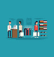 clothing store flat vector image