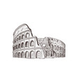 coliseum sight of italy vector image vector image