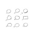 collection hand drawn think and talk speech vector image