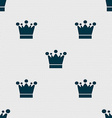 Crown icon sign Seamless abstract background with vector image vector image