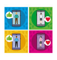 dating application for smartphone vector image