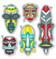 decorative colored african ethnic tribal vector image