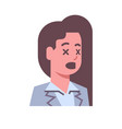 female shocked emotion icon isolated avatar woman vector image vector image