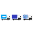fish delivery truck collage vector image