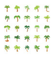 flat icons set of trees vector image vector image