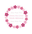 floral wreath of cherry blossom vector image