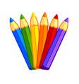 fun kids cartoon color pencils vector image vector image