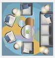 Furniture top view set 34 for interior vector image vector image