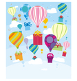 Gifts and balloons vector image vector image