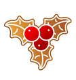 Gingerbread Holly Berry vector image
