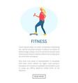 girl doing exercise fitness webpage sport vector image