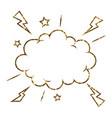golden glitter of isolated comic speech cloud vector image vector image