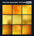golden gradient texture pattern set for the vector image