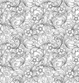 hand drawn vintage floral seamless pattern vector image vector image