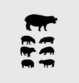 Hippopotamus Silhouettes vector image vector image