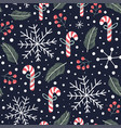 holiday seamless pattern with christmas candies s vector image vector image