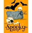Invitation poster to Spooky Halloween Party vector image