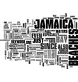 jamaica beaches text background word cloud concept vector image vector image