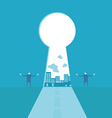 Key success runway vector image
