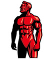 muscle man mascot standing vector image vector image