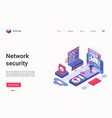 network security modern technology isometric vector image vector image