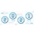 new 2021 year round frames industrial technology vector image vector image
