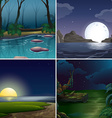 Night scene vector image vector image