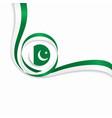pakistani wavy flag background vector image